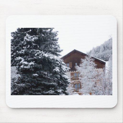 paisaje nevoso tapete de raton