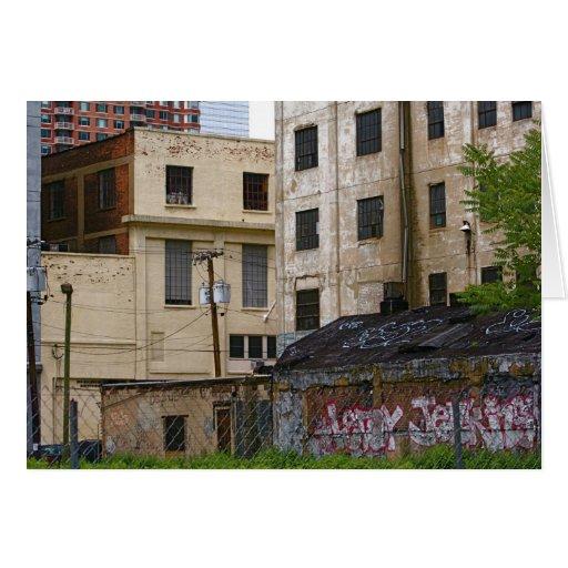 Paisaje Notecards-Urbano con la pintada Tarjeta Pequeña