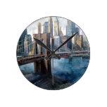 Paisaje Nueva York del reloj Clocks