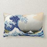 Paisaje oriental fresco de la opinión de Hokusai F Cojines