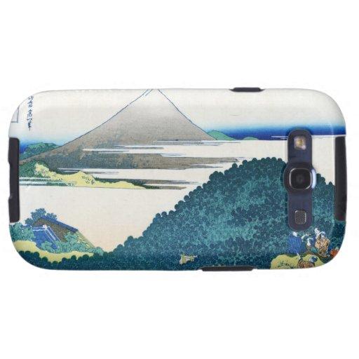 Paisaje oriental fresco de la opinión de Hokusai F Galaxy S3 Cárcasa