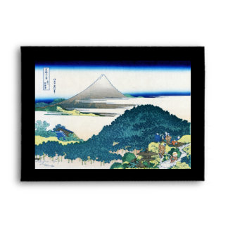 Paisaje oriental fresco de la opinión de Hokusai F Sobre