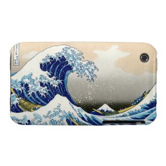 Paisaje oriental fresco de la opinión de Hokusai iPhone 3 Case-Mate Funda