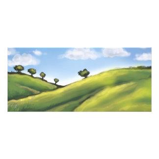 paisaje pacífico bonito de Rolling Hills Diseños De Tarjetas Publicitarias