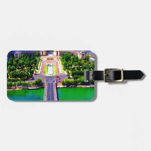 paisaje palais escénico de challot de París Franci Etiquetas Bolsa
