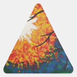 Paisaje Calcomania De Trianguladas