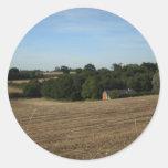 paisaje pegatinas redondas