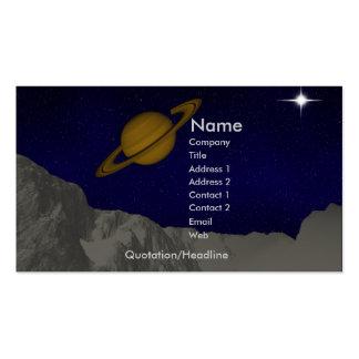 Paisaje planetario tarjetas de visita