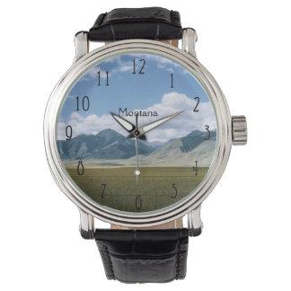 Paisaje retro de Montana Reloj