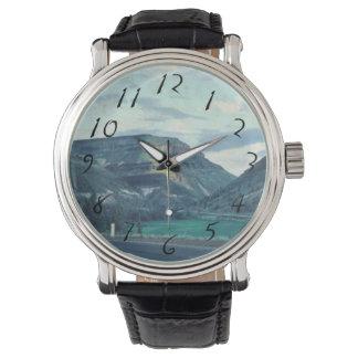Paisaje retro de Montana Reloj De Mano