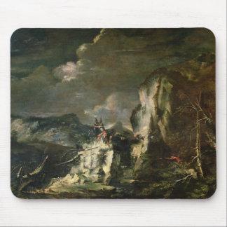 Paisaje rocoso con un Huntsman y los guerreros (ac Alfombrilla De Raton