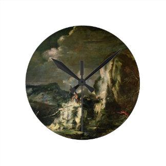 Paisaje rocoso con un Huntsman y los guerreros (ac Reloj Redondo Mediano