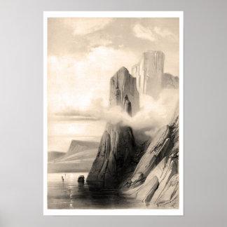 Paisaje rocoso por el mar poster