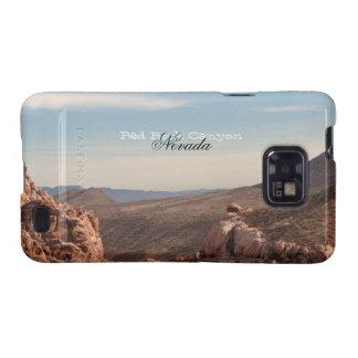 Paisaje rojo de la roca; Recuerdo de Nevada Galaxy SII Carcasas