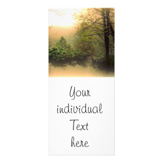 paisaje romántico tarjeta publicitaria