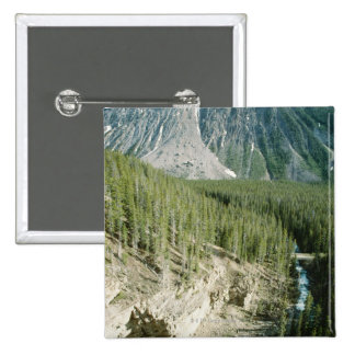 Paisaje rugoso en el parque nacional de Banff, Can Pin Cuadrada 5 Cm