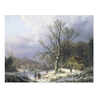 Paisaje rural Daiwaille 1845 Nevado Tarjetas Postales