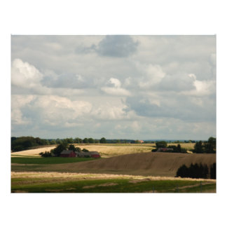 Paisaje rural tarjetón