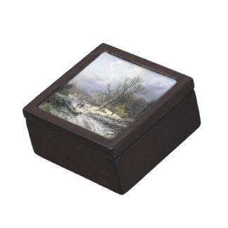 Paisaje rural Nevado, Daiwaille 1845 Cajas De Recuerdo De Calidad