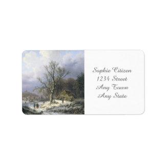 Paisaje rural Nevado, Daiwaille 1845 Etiquetas De Dirección