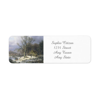 Paisaje rural Nevado, Daiwaille 1845 Etiqueta De Remite