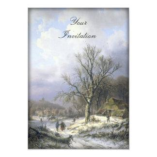"""Paisaje rural Nevado, Daiwaille 1845 Invitación 5"""" X 7"""""""
