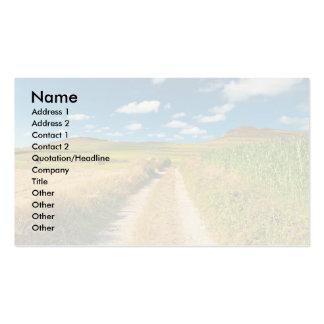 Paisaje rural tarjetas de visita