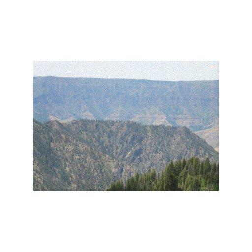 Paisaje Skyscape Waterscape de Idaho del barranco  Lona Estirada Galerías