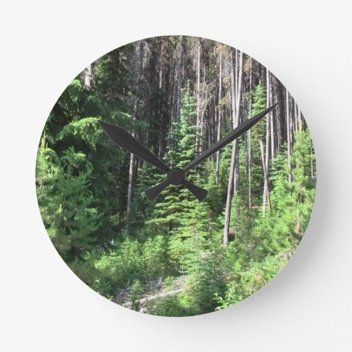 Paisaje Skyscape Waterscape de Umatilla Oregon Reloj Redondo Mediano