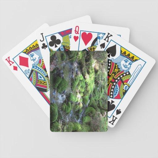 Paisaje Skyscape Waterscape del Mt Jefferson Orego Baraja Cartas De Poker