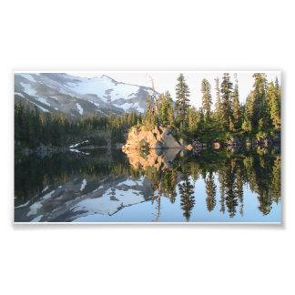 Paisaje Skyscape Waterscape del Mt Jefferson Orego Impresion Fotografica