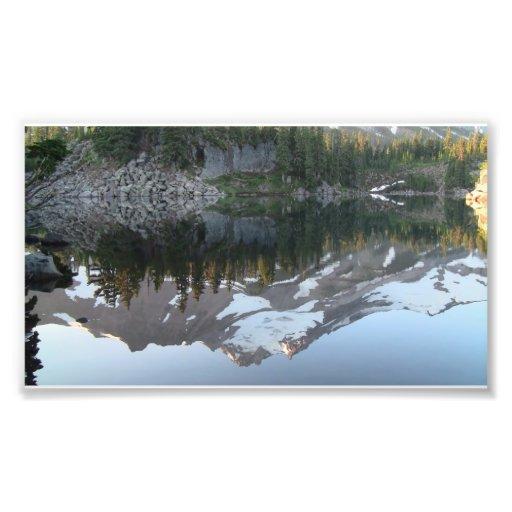 Paisaje Skyscape Waterscape del Mt Jefferson Orego Impresiones Fotograficas