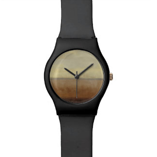 Paisaje solitario del desierto del normando Wyatt Relojes