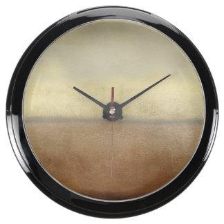 Paisaje solitario del desierto del normando Wyatt Reloj Acuario