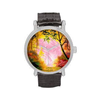 Paisaje soñador de la fantasía - reloj adaptable