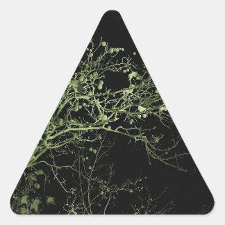 Paisaje soñador de la noche pegatina triangular