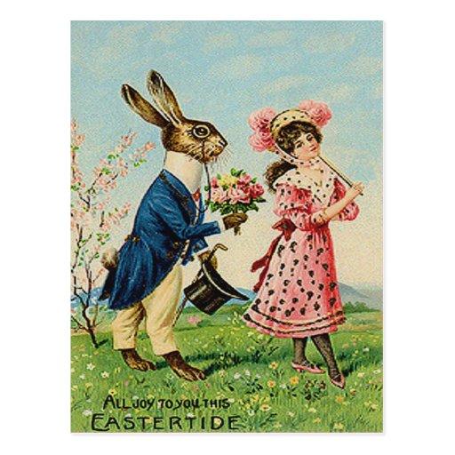 Paisaje subió de la mujer del Victorian del coneji Postal