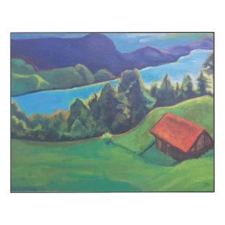 Paisaje suizo 2 impresión en madera