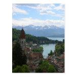 Paisaje suizo hermoso postales