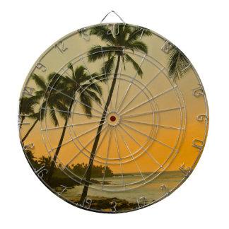 Paisaje tropical de la isla de la palmera de la pl
