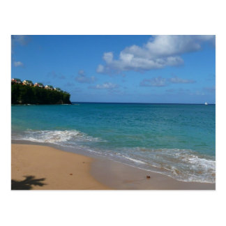 Paisaje tropical de las vacaciones de la playa de postal