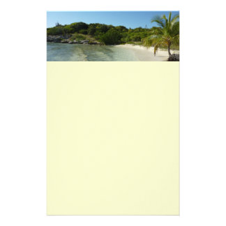 Paisaje tropical hermoso de la playa de Antigua Papelería