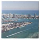 Paisaje urbano 2 de Miami Azulejo Cerámica