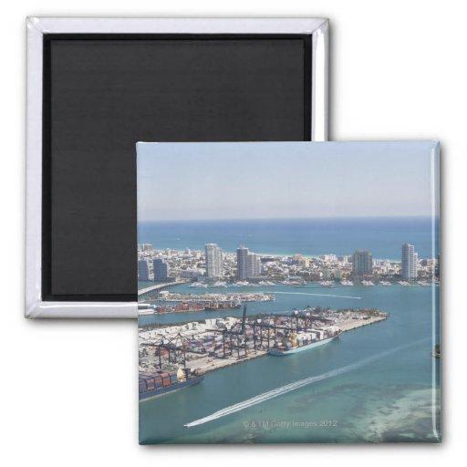 Paisaje urbano 2 de Miami Imán Para Frigorífico