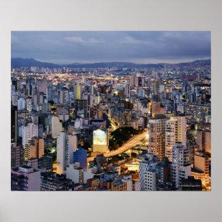 Paisaje urbano 2 de Sao Paulo Posters