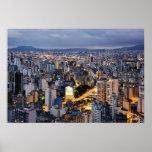 Paisaje urbano 2 de Sao Paulo Póster
