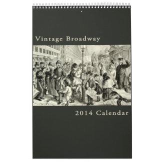 Paisaje urbano antiguo de Broadway Nueva York del  Calendario