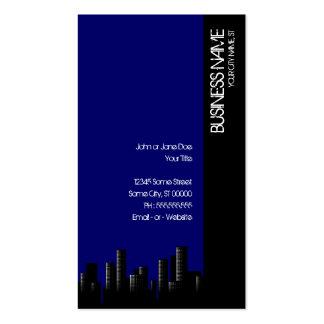 paisaje urbano azul marino plantillas de tarjetas personales