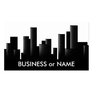paisaje urbano blanco y negro tarjeta de negocio