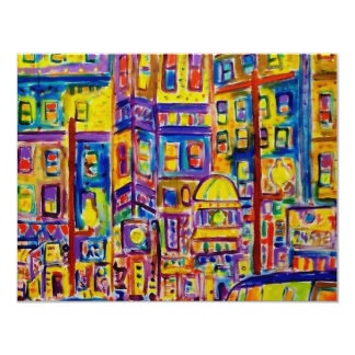Paisaje urbano Bronx por Piliero Invitación 10,8 X 13,9 Cm